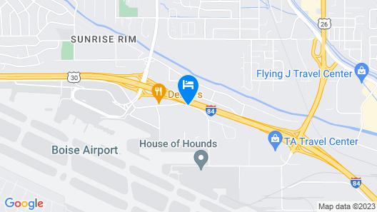 Inn America - Boise Map