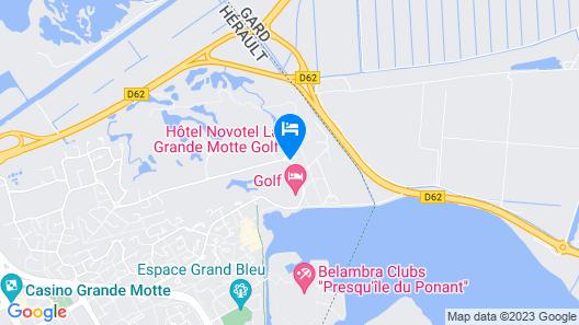 Novotel La Grande Motte Golf Map