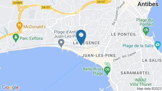 Brit Hotel Colbert Juan les Pins Map