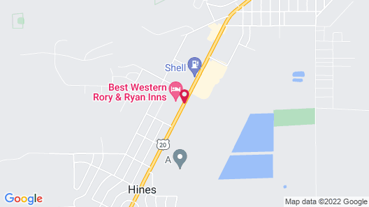 Best Western Rory & Ryan Inns Map