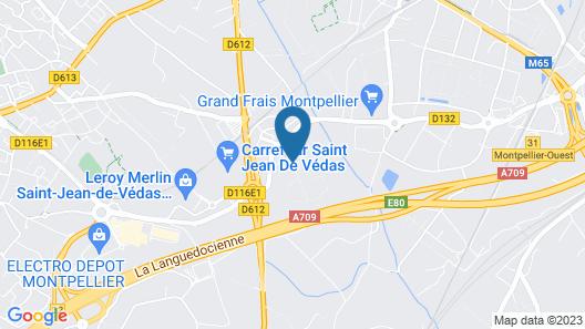 The Originals City, Le Mas de Grille, Montpellier Sud (Qualys-Hotel) Map