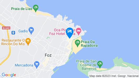 Hotel Rego Foz Map