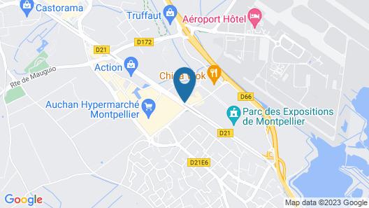 Brit Hotel Confort Montpellier Parc Expositions Map