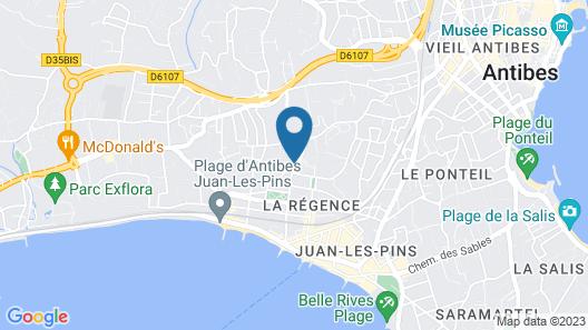 Hôtel des Mimosas Map