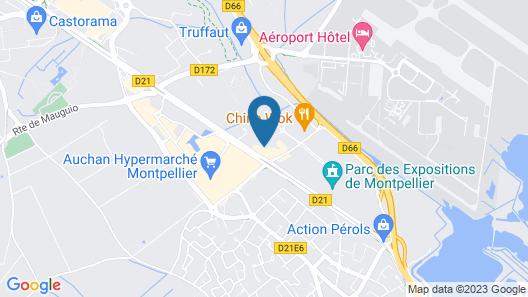 Brit Hotel Montpellier Parc Expo Map