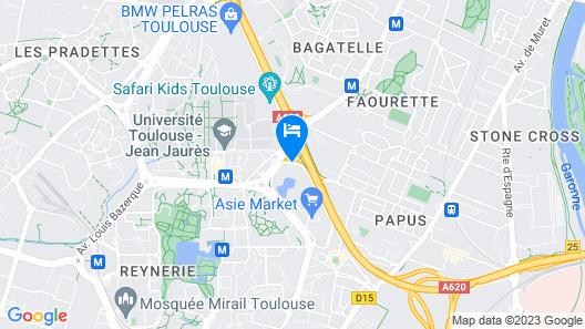 ibis Toulouse Université Map