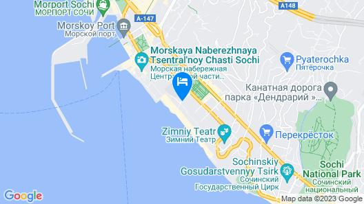 Marins Park Hotel Sochi Map