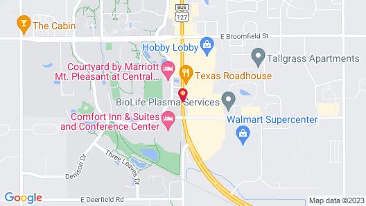 Super 8 by Wyndham Mt. Pleasant Map