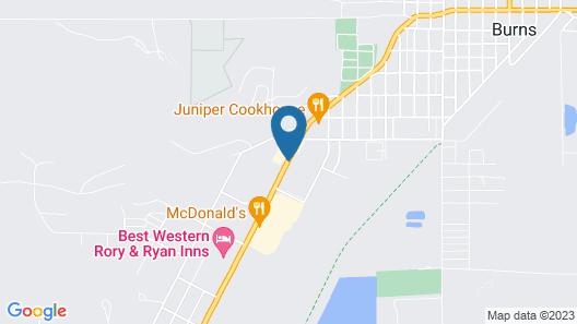 Americas Best Value Inn Burns Map