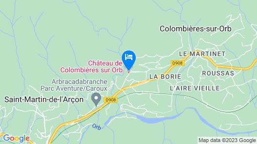 Château de Colombières sur Orb Map