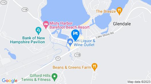 Fireside Inn & Suites Gilford Map