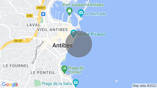 Apartment Antibes, Studio Flat, 2 Persons Map