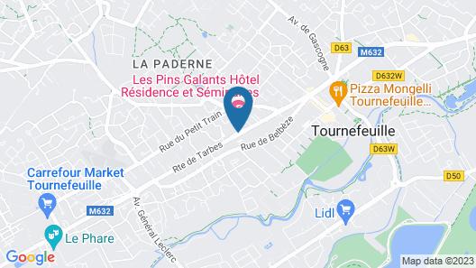 Hôtel Résidence Les Pins Galants Toulouse-Tournefeuille Map