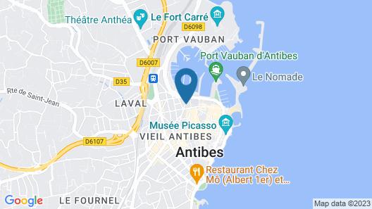 Hotel La Villa Port d Antibes & Spa Map