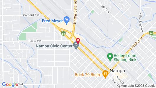 Best Western Plus Peppertree Nampa Civic Center Inn Map
