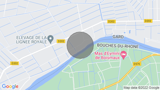 Lodging 2 to 4 People With Jaccuzi in Camargue Edge of Small Rhone Map