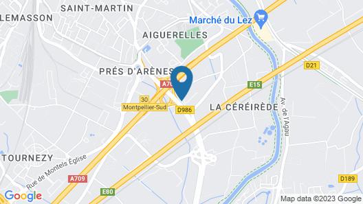 Premiere Classe Montpellier Sud - Lattes Map