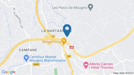 Chambres d'hôtes & Spa Villa Stéphanie Cannes-Mougins Map