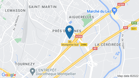 Campanile Montpellier Sud Map