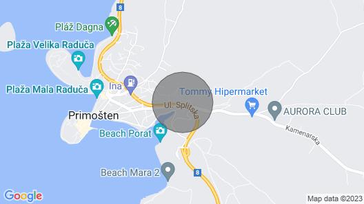 Luxury Villa Primosten Diamond with Swimming pool Map