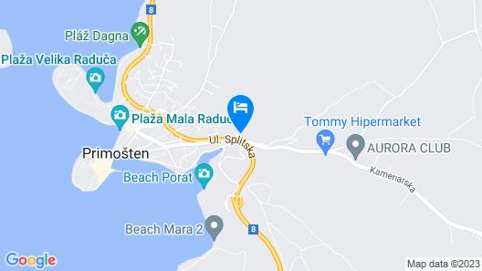 Villa Marica Primošten Map