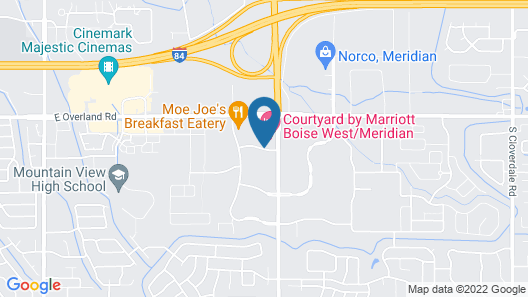 Courtyard by Marriott Boise West Meridian Map