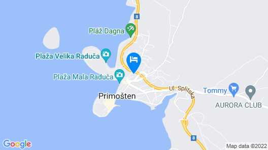 Apartments Paško - Primosten Map