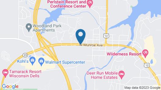 Americas Best Value Inn Wisconsin Dells Map