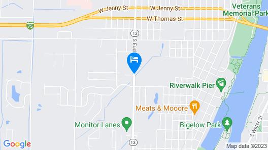Delta Motel Map