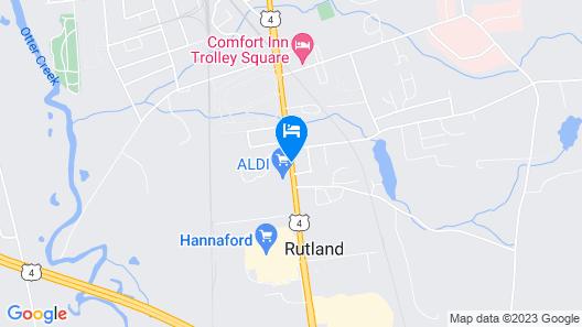 Quality Inn Rutland Map