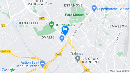 Appart'City Confort Montpellier Ovalie II Map