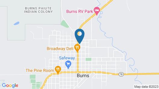 OYO Silver Spur Burns Hwy 20 Map