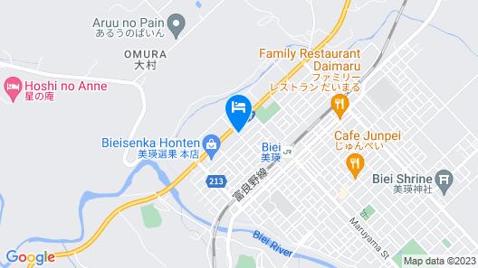 Phottage inn Biei Map