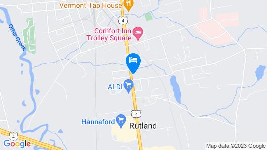 Econo Lodge Rutland City near Hwy 7 Map