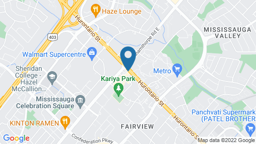 Delta Hotels by Marriott Toronto Mississauga Map
