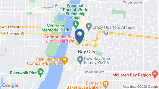 Comfort Inn Bay City - Riverfront Map