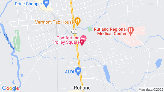 Comfort Inn Trolley Square Map