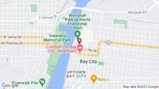 DoubleTree by Hilton Hotel Bay City - Riverfront Map