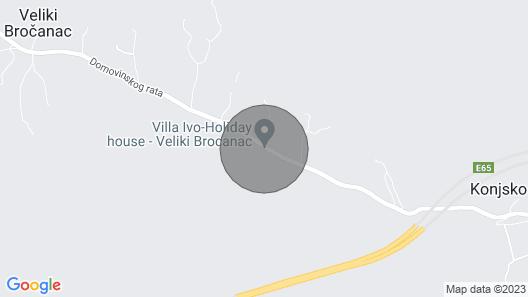 3 Bedroom Accommodation in Veliki Brocanac Map