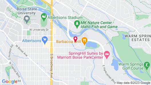 Holiday Inn Express Boise - University Area Map