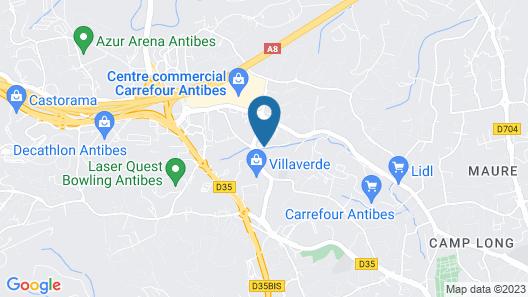 Odalys City Antibes Olympe Map