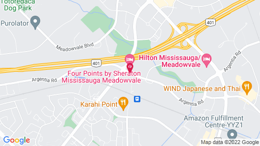 Four Points by Sheraton Mississauga Meadowvale Map