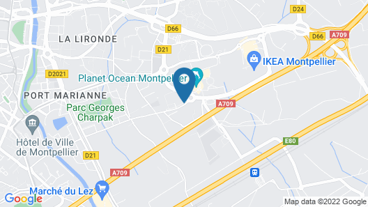Holiday Inn Express Montpellier - Odysseum Map