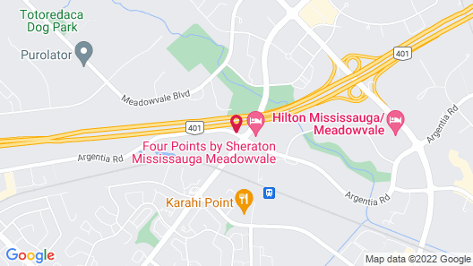Holiday Inn Hotel & Suites Mississauga, an IHG Hotel Map