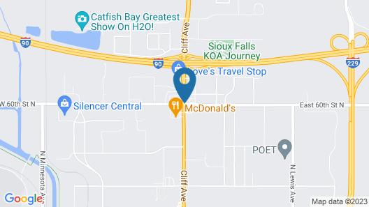 Days Inn by Wyndham Sioux Falls Airport Map