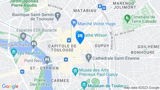 Mercure Toulouse Centre Saint-Georges Hotel Map