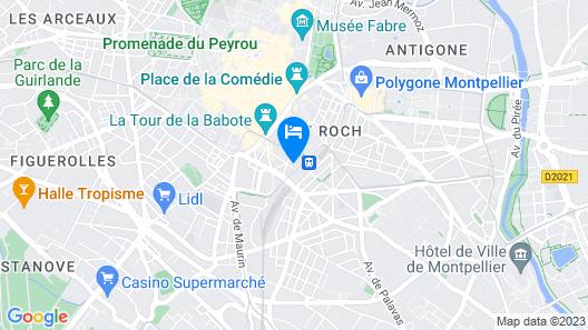Hôtel Golden Tulip Montpellier Centre St Roch Map