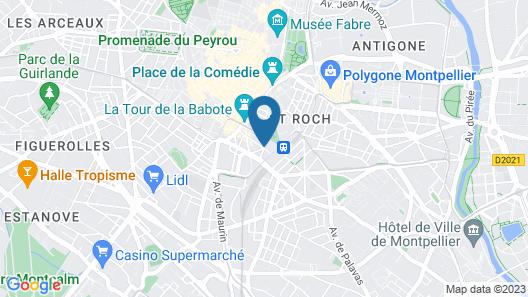 Hôtel  Campanile Montpellier Centre St Roch Map