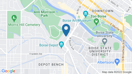 TownePlace Suites by Marriott Boise Downtown/University Map