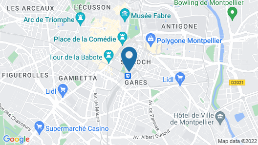 Best Western Plus Hotel Comedie Saint-Roch Map